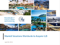 Marriott Vacations Worldwide to Acquire ILG - April 2018